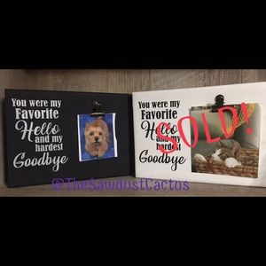 Black Pet Memory Photo Sign